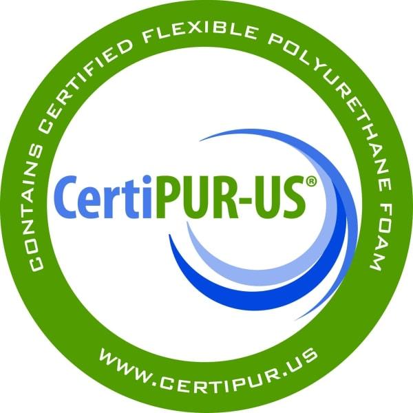 Double CertiPUR-US® Certified Foam Futon Twin 75 In. x 39 In. in Green Mattress