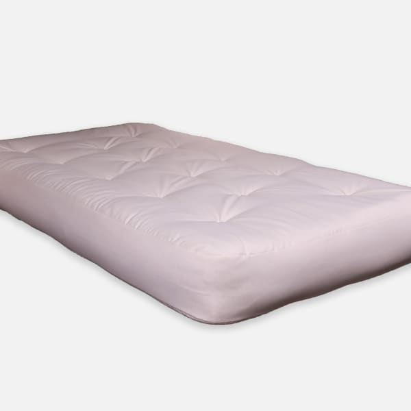 Natural Single Foam Twin Futon 75 x 39 in Beige Mattress