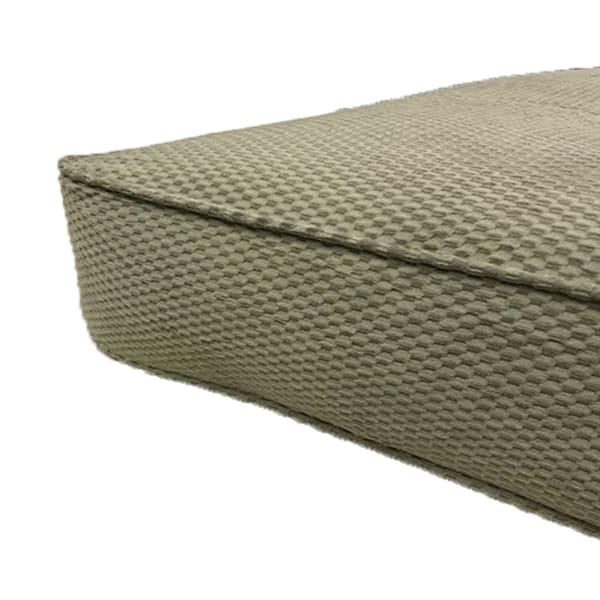 Double Poly Single Foam Full Futon 75 In. x 54 In. in Green Mattress