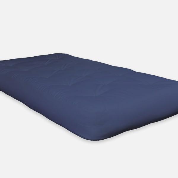 Navy Double Poly Single Foam Full Futon 75 x 54 in Blue Mattress