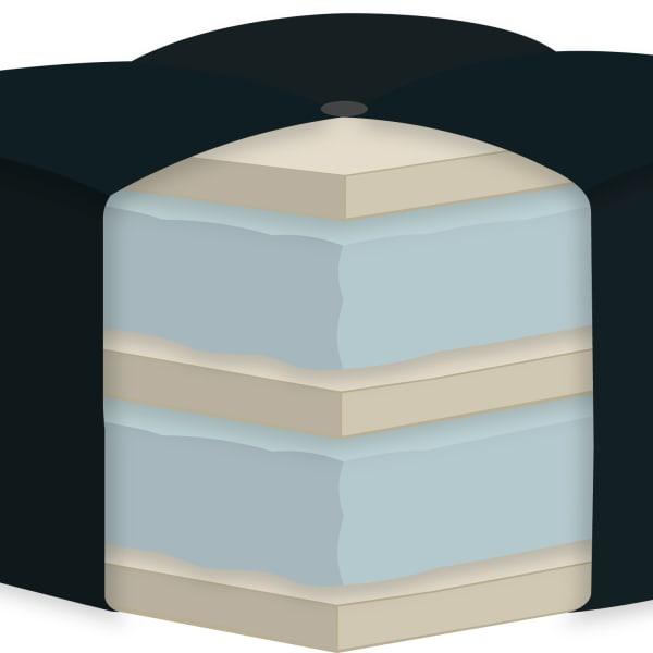Double Foam Queen Futon Mattress