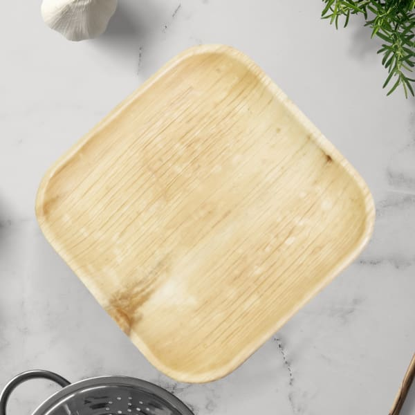 Indra Square Disposable Palm Leaf Plate 10