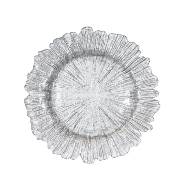 Panacci Silver Glass Charger Set of 8