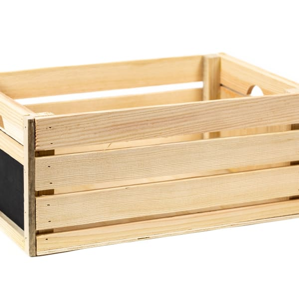 Rustic Decorative Wood Crate - Chalkboard Sides