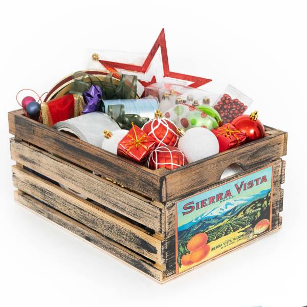 Vintage Style Wood Fruit Crate Sierra Vista
