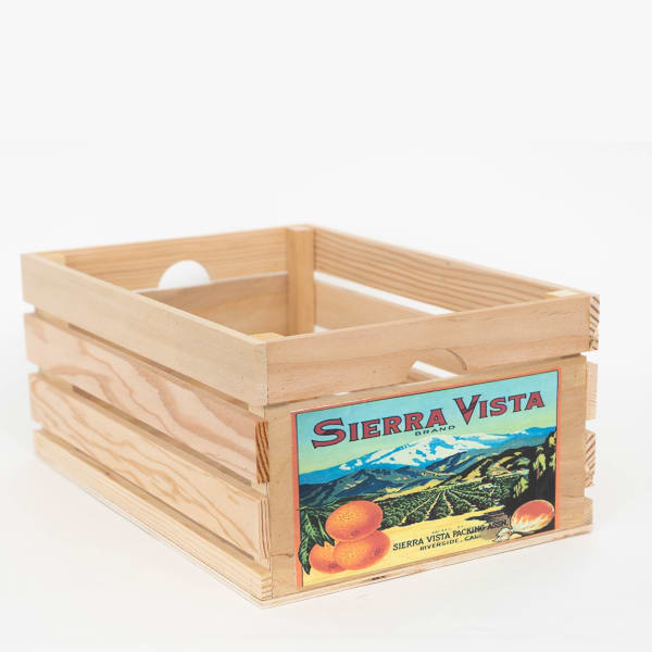 Vintage Style Wood Fruit Crate Sierra Vista