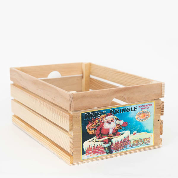 Vintage Style Wood Fruit CrateKriss Kringle