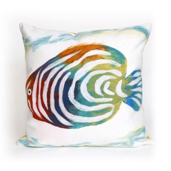 Rainbow Fish Pearl Outdoor Pillow