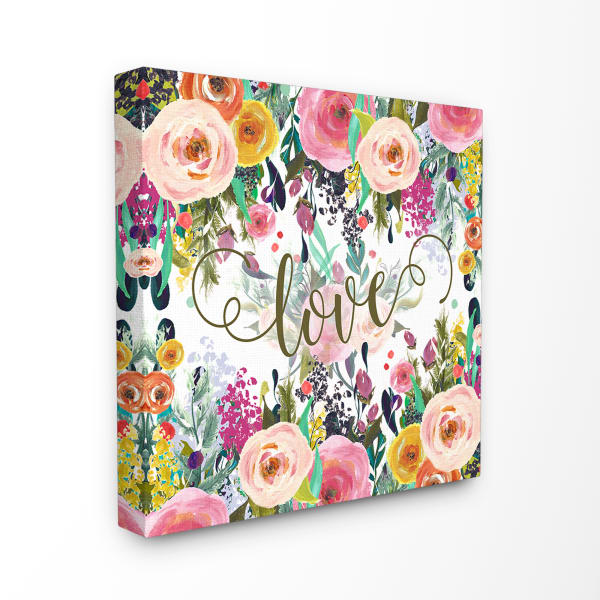 Floral Love Wrapped Wall Art