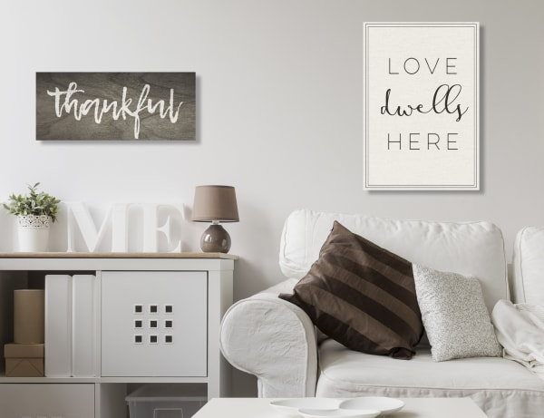 Love Here Typography Wall Art