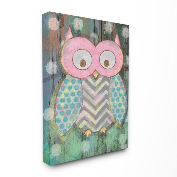 Woodland Owl Canvas Wall Art