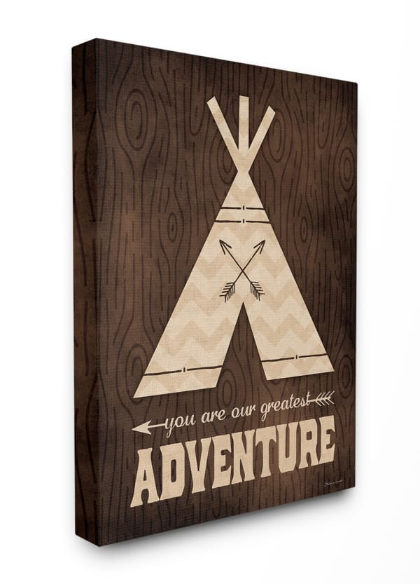 Rustic Adventurer Wood Grain Canvas Wall Art