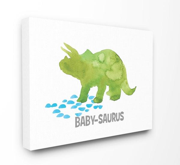 Baby Saurus Triceratops Dinosaur Wall Art