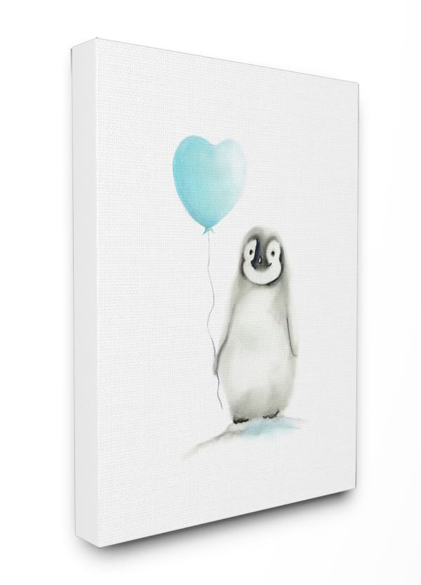 Blue Party Penguin Wall Art