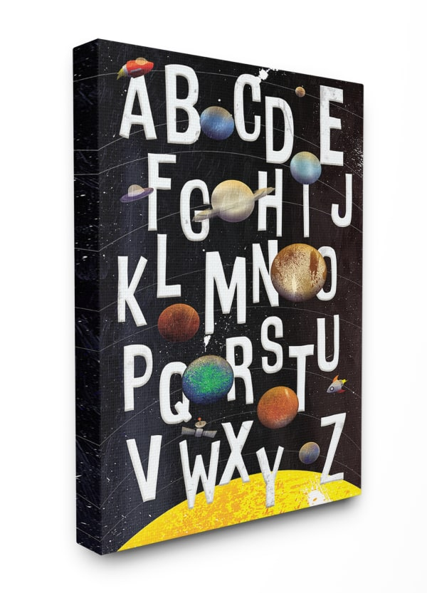 Outer Space Alphabet Wall Art