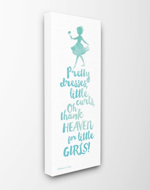 Little Girls Blue Watercolor Wall Art