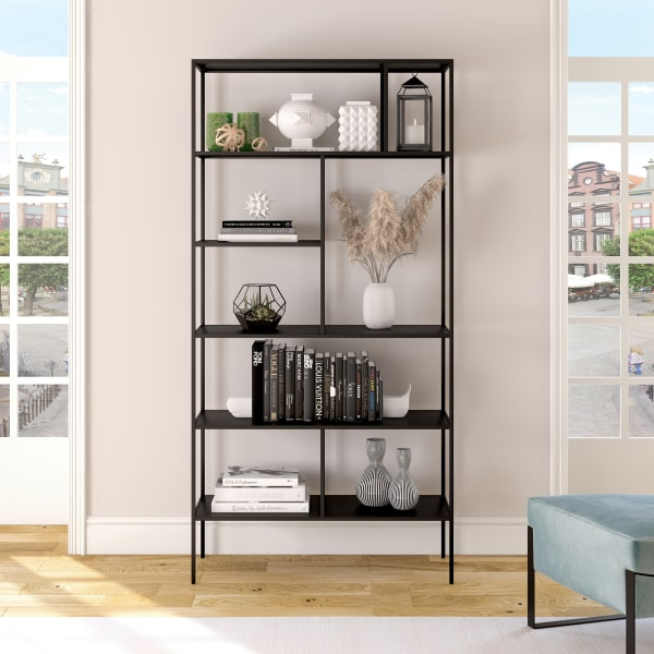 Winthrop Blackened Bronze Bookcase