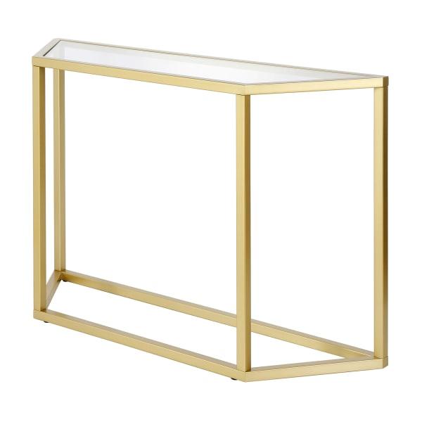 Levi Gold Finish Console Table