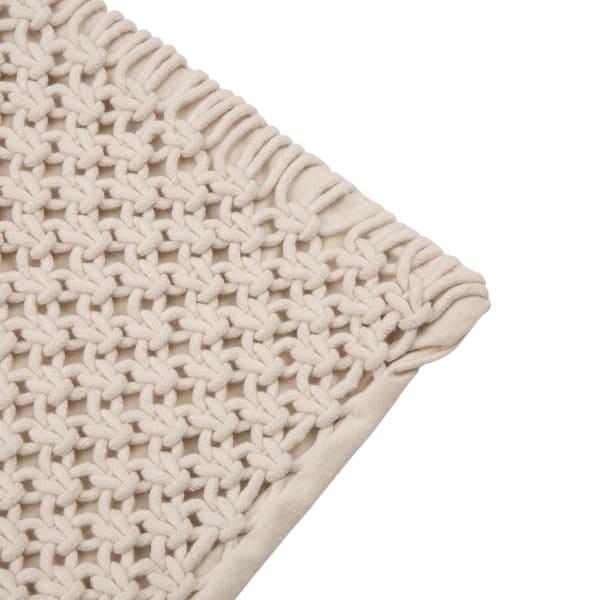 Diamond Handmade Cotton Rope Pillow Cover