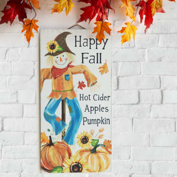 Fall Wooden Scarecrow Hanging Decor