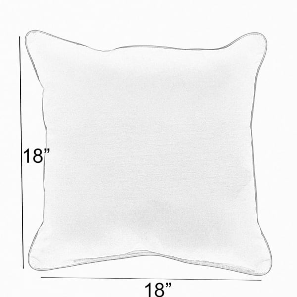 Sunbrella Corded Set of 2 in Canvas Natural with Canvas Black Outdoor Pillows