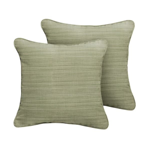Sunbrella Corded in Dupione Laurel Outdoor Pillows Set of 2