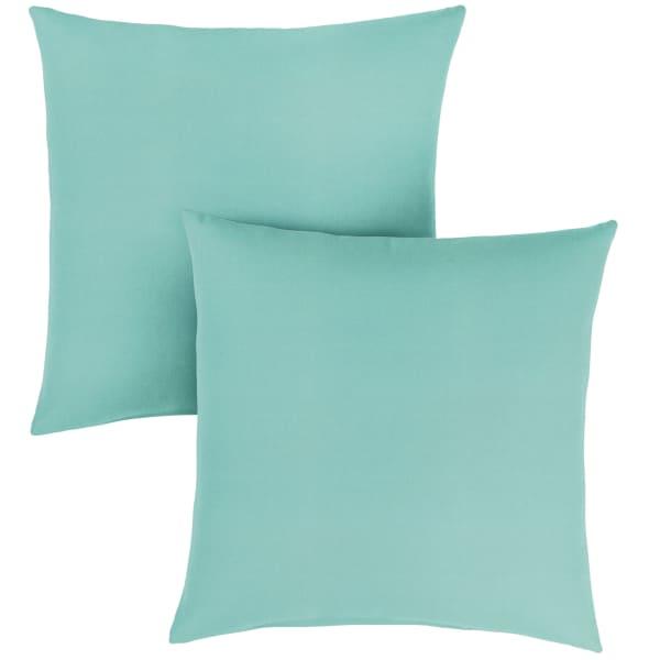 Sunbrella Knife Edge in Canvas Aruba Outdoor Pillows Set of 2