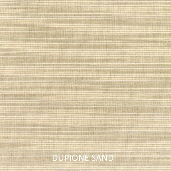 Sunbrella Knife Edge in Dupione Sand Outdoor Pillows Set of 2