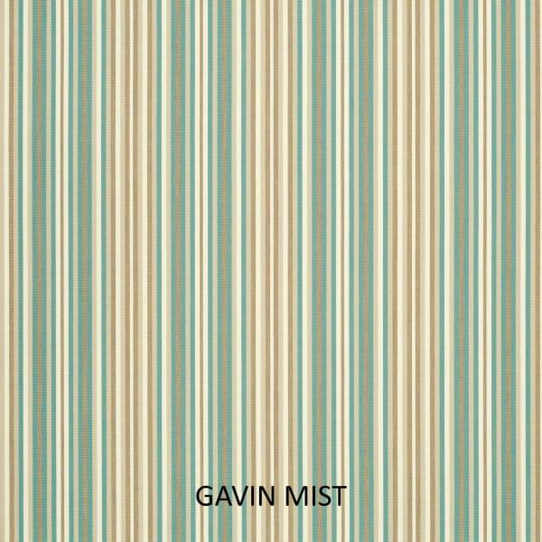 Sunbrella Knife Edge in Gavin Mist Outdoor Pillows Set of 2