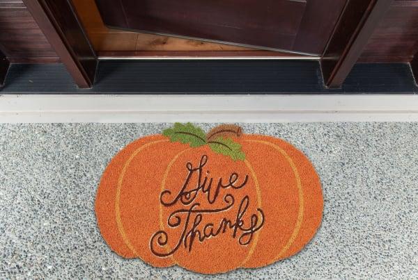 Give Thanks Pumpkin Doormat