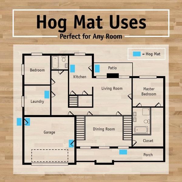 Paw Print Hog Mat 18x30