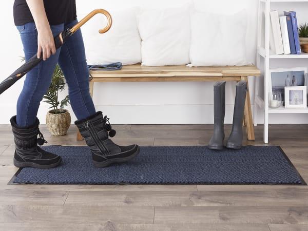 Walk Off Utility Runner Doormat 22x60 Blue/Black