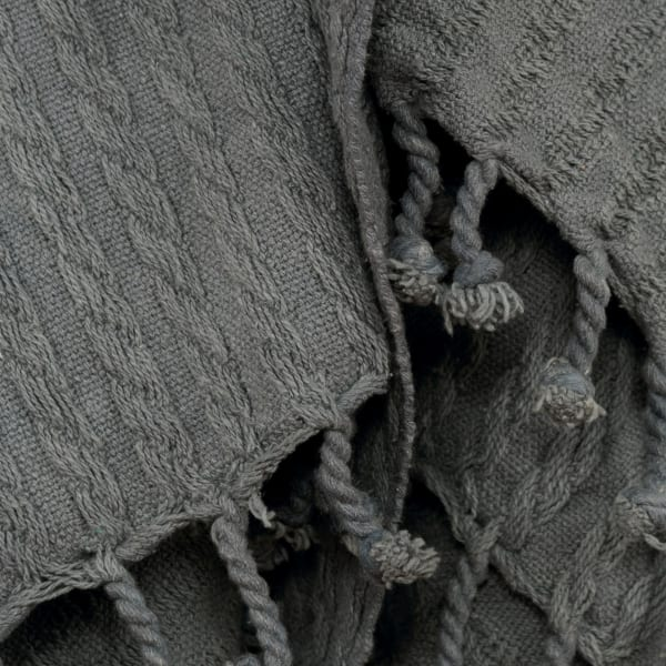 Gray 100% Cotton Cable Knit  50