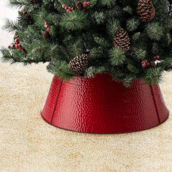 Red Hammer-harden Metal Tree Collar