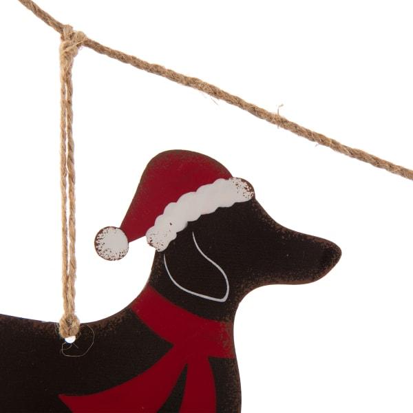 Metal Christmas Dog Garland