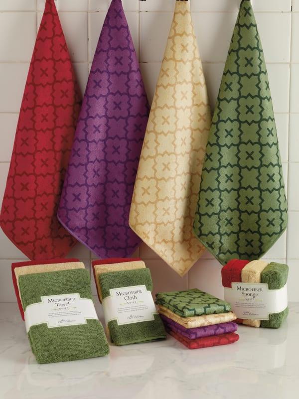 Vanilla Lattice Microfiber Kitchen Towel (Set of 12)