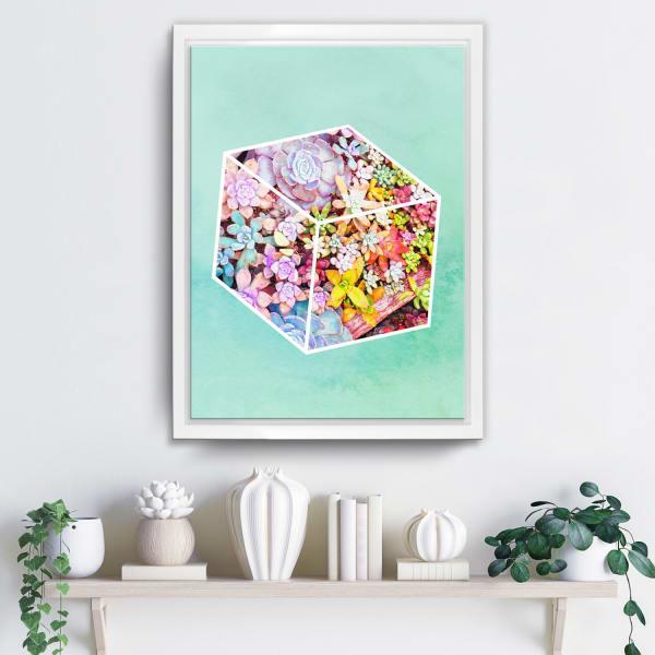 Prism Garden Framed Succulent Canvas Wall Art