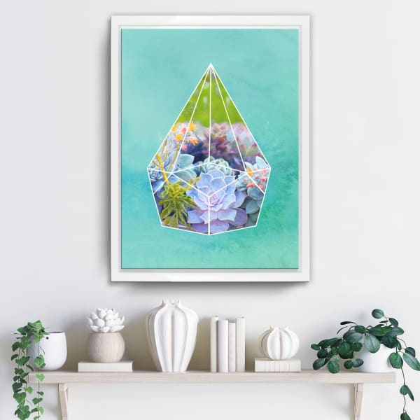Succulent Prism Framed Botanical Canvas Wall Art