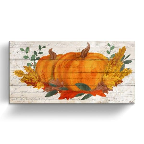Fall Harvest Orange Canvas Wall Art