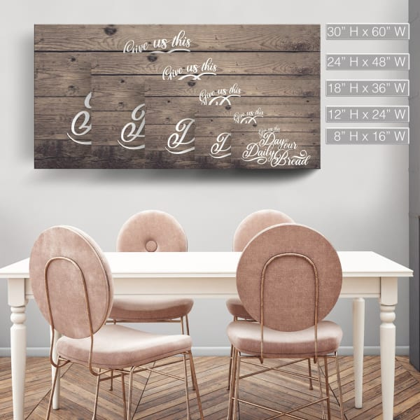 Daily Bread Brown Canvas Wall Art