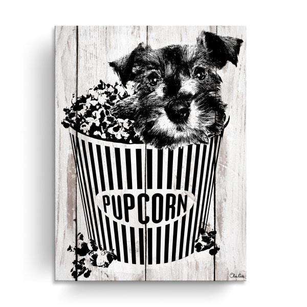 Popcorn Pup Brown Canvas Pet Wall Art