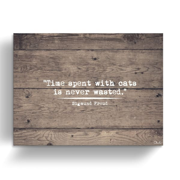 Time Never Wasted Brown Canvas Pet Wall Art