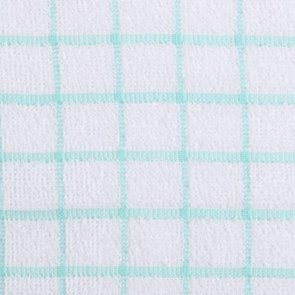 Aqua Combo Windowpane Dishcloth (Set of 6)