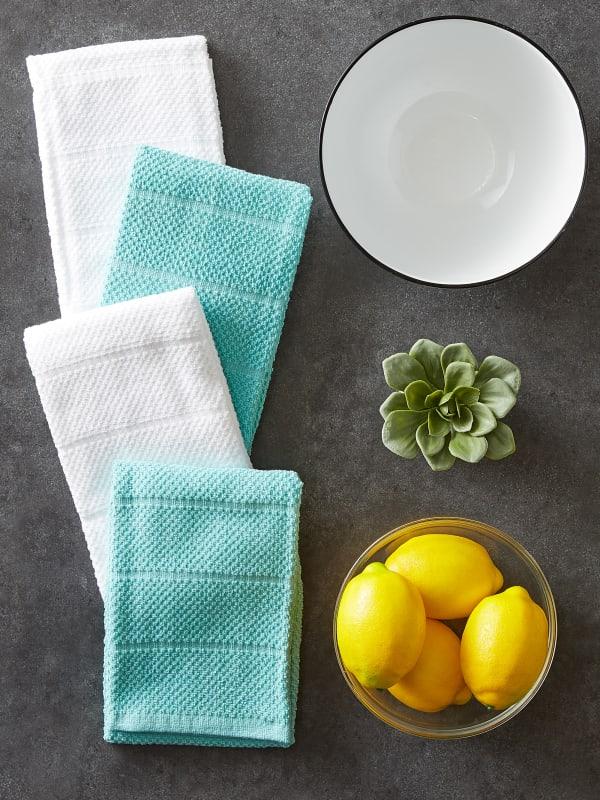 Assorted Aqua Basic Chef Terry Dishtowel (Set of 4)