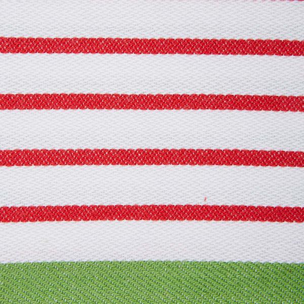 Assorted Christmas Candy Stripe Dishtowel (Set of 2)
