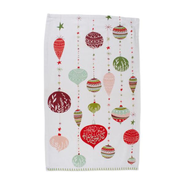 Assorted Christmas Trimmings Printed Dishtowel (Set of 2)