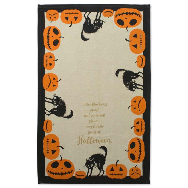 Assorted Jack-O'-Lantern Halloween Printed Dishtowel (Set of 3)