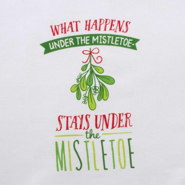 Assorted Under Mistletoe Holiday Printed Dishtowel (Set of 2)