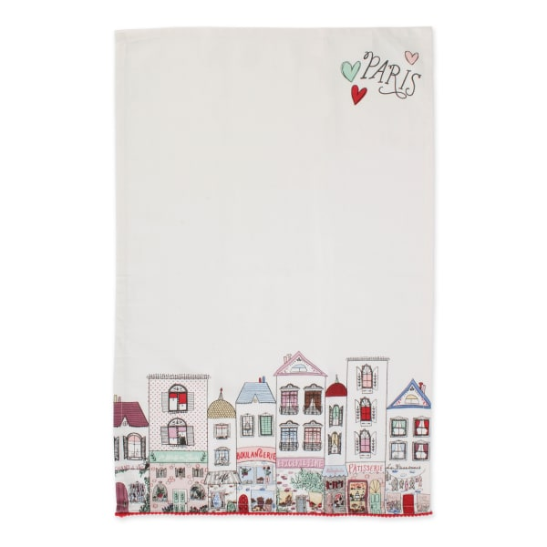 I Love Paris Kitchen Textiles, 18x28