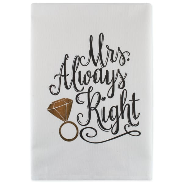 Mr & Mrs Printed Dishtowel (Set of 2)